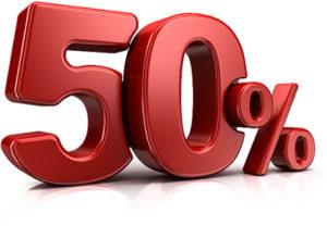 Скидка 50% распространится на большинство штрафов